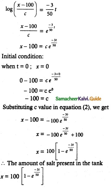 Samacheer Kalvi 12th Maths Guide Chapter 10 Ordinary Differential Equations Ex 10.8 14