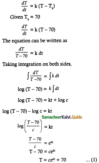 Samacheer Kalvi 12th Maths Guide Chapter 10 Ordinary Differential Equations Ex 10.8 7