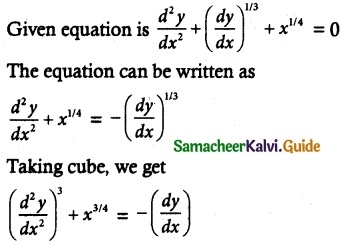 Samacheer Kalvi 12th Maths Guide Chapter 10 Ordinary Differential Equations Ex 10.9 1
