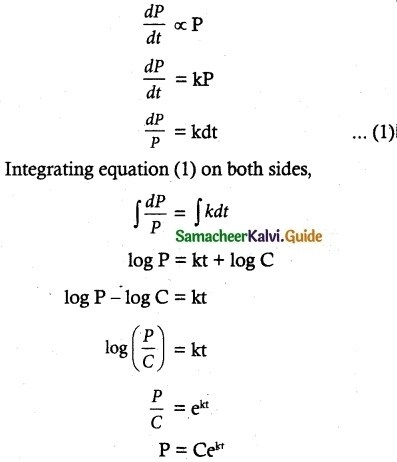 Samacheer Kalvi 12th Maths Guide Chapter 10 Ordinary Differential Equations Ex 10.9 12