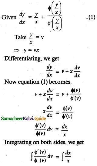 Samacheer Kalvi 12th Maths Guide Chapter 10 Ordinary Differential Equations Ex 10.9 9