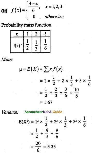 Samacheer Kalvi 12th Maths Guide Chapter 11 Probability Distributions Ex 11.4 4