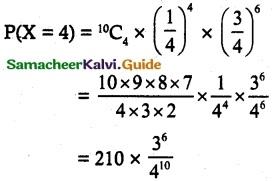 Samacheer Kalvi 12th Maths Guide Chapter 11 Probability Distributions Ex 11.5 4