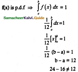 Samacheer Kalvi 12th Maths Guide Chapter 11 Probability Distributions Ex 11.6 6