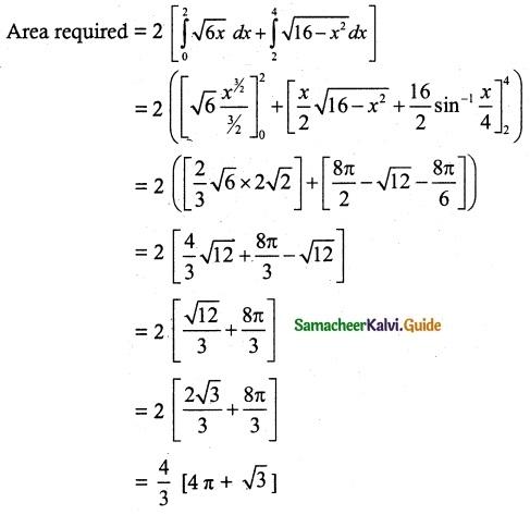 Samacheer Kalvi 12th Maths Guide Chapter 9 Applications of Integration Ex 9.8 15