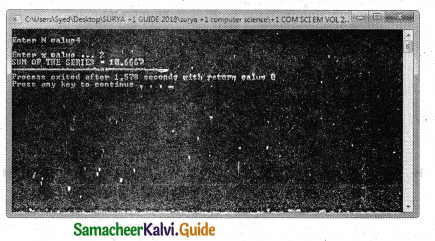 Samacheer Kalvi 11th Computer Science Guide Chapter 10 Flow of Control 11