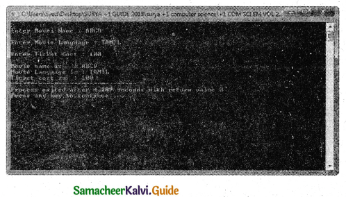 Samacheer Kalvi 11th Computer Science Guide Chapter 12 Arrays and Structures 13