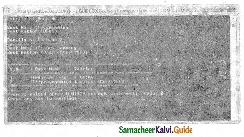 Samacheer Kalvi 11th Computer Science Guide Chapter 12 Arrays and Structures 18