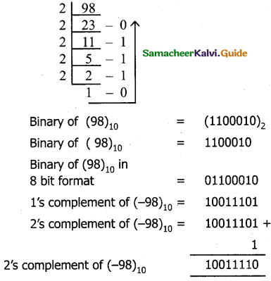 Samacheer Kalvi 11th Computer Science Guide Chapter 2 Number Systems 10