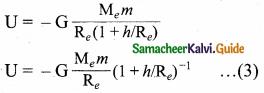 Samacheer Kalvi 11th Physics Guide Chapter 6 Gravitation 17