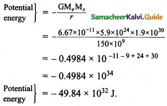 Samacheer Kalvi 11th Physics Guide Chapter 6 Gravitation 45