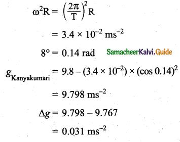 Samacheer Kalvi 11th Physics Guide Chapter 6 Gravitation 50