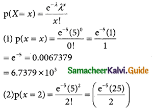 Samacheer Kalvi 12th Business Maths Guide Chapter 7 Probability Distributions Miscellaneous Problems 5