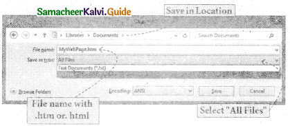 Samacheer Kalvi 11th Computer Applications Guide Chapter 10 HTML – Structural Tags 5