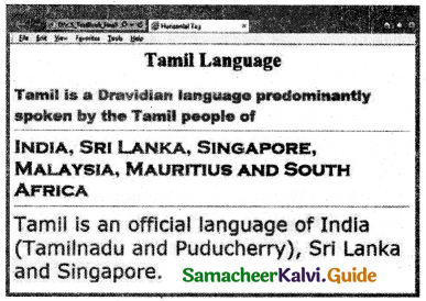 Samacheer Kalvi 11th Computer Applications Guide Chapter 11 HTML – Formatting Text, Creating Tables, List and Links 49