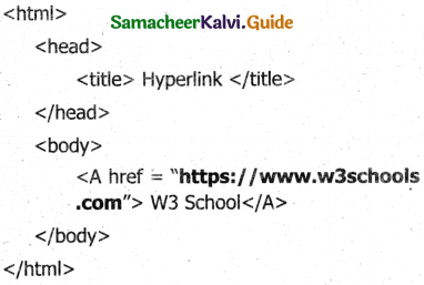 Samacheer Kalvi 11th Computer Applications Guide Chapter 11 HTML – Formatting Text, Creating Tables, List and Links 7