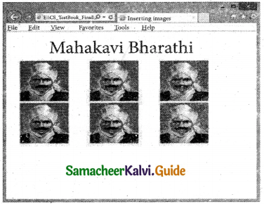 Samacheer Kalvi 11th Computer Applications Guide Chapter 12 HTML – Adding Multimedia Elements and Forms 12