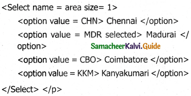 Samacheer Kalvi 11th Computer Applications Guide Chapter 12 HTML – Adding Multimedia Elements and Forms 4