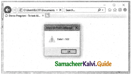 Samacheer Kalvi 11th Computer Applications Guide Chapter 14 Introduction to Javascript 5