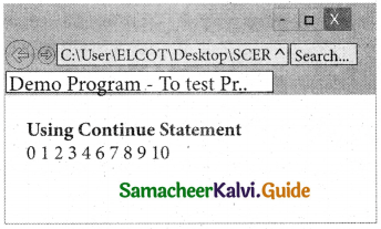 Samacheer Kalvi 11th Computer Applications Guide Chapter 15 Control Structure in JavaScript 26