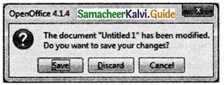 Samacheer Kalvi 11th Computer Applications Guide Chapter 6 Word Processor Basics (OpenOffice Writer) 14