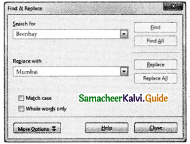 Samacheer Kalvi 11th Computer Applications Guide Chapter 6 Word Processor Basics (OpenOffice Writer) 5