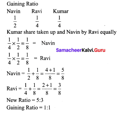Samacheer Kalvi 12th Accountancy Solutions Chapter 6 Retirement and Death of a Partner 15