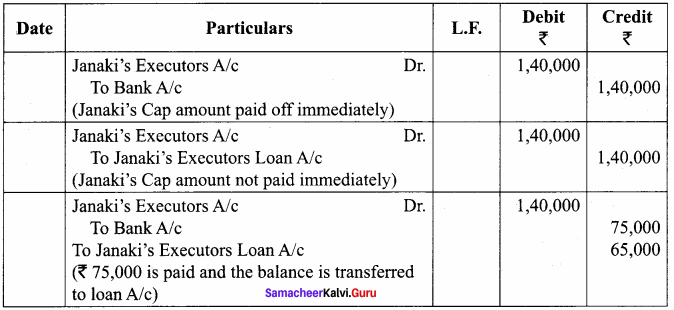 Samacheer Kalvi 12th Accountancy Solutions Chapter 6 Retirement and Death of a Partner 45