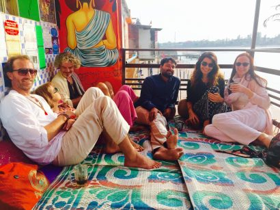 gathering with friends in rishikesh