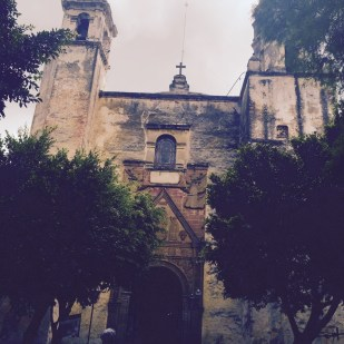 old church in tepoztlan mexico