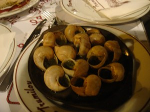 Escargots by the Siene.