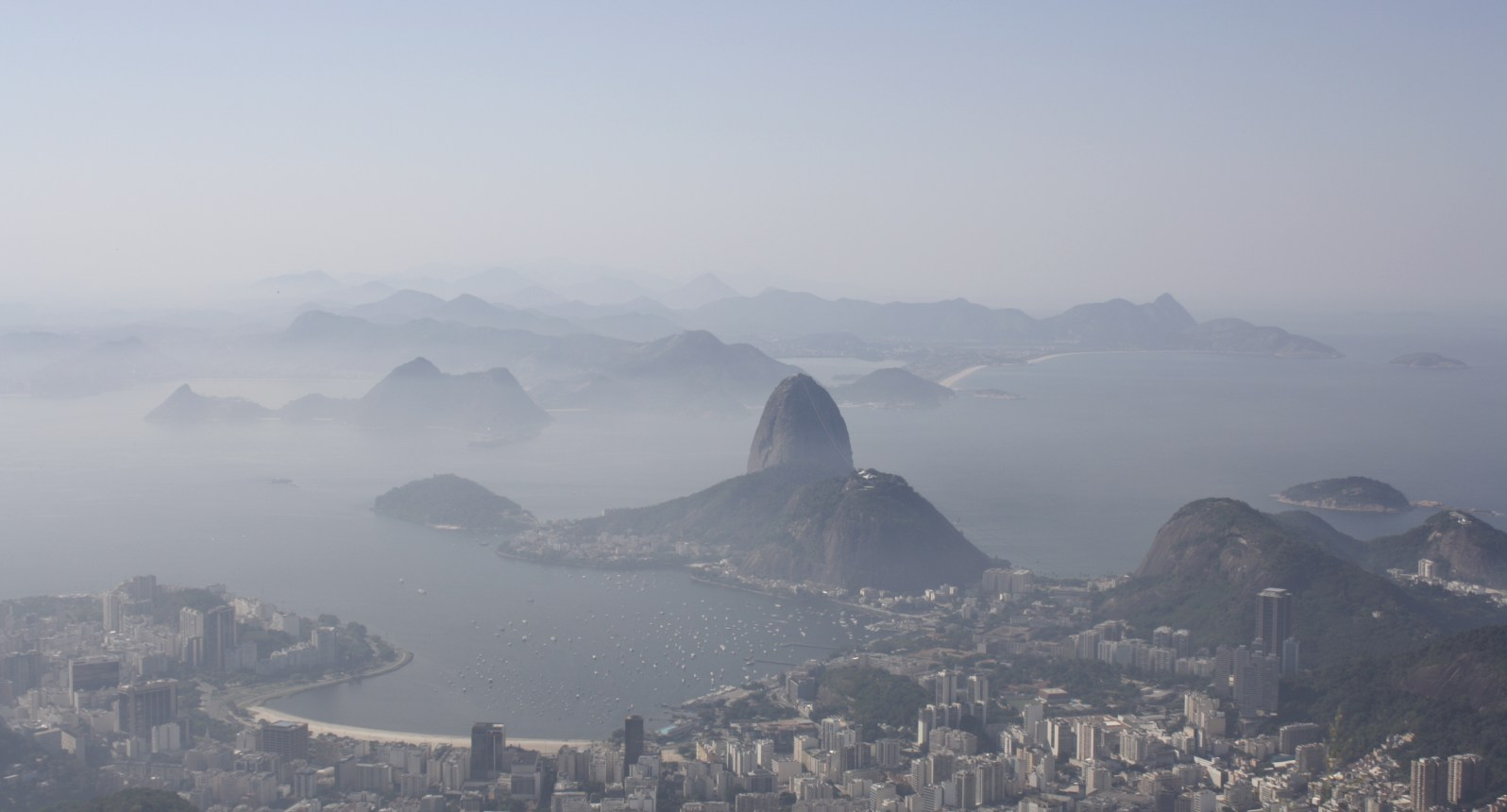 Bird's-eye view of Guanabara Bay from Corcovado mountainRio de Janeiro, Brazil