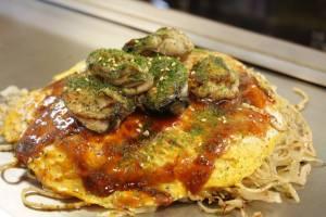 Hiroshima okonomiyaki at Okonomi Mura Hiroshima