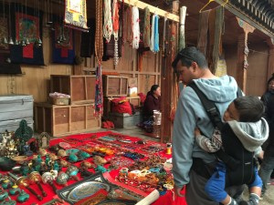 Checking out the local market, Bhutan