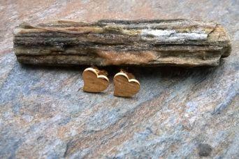 Kolczyki serce ze stali