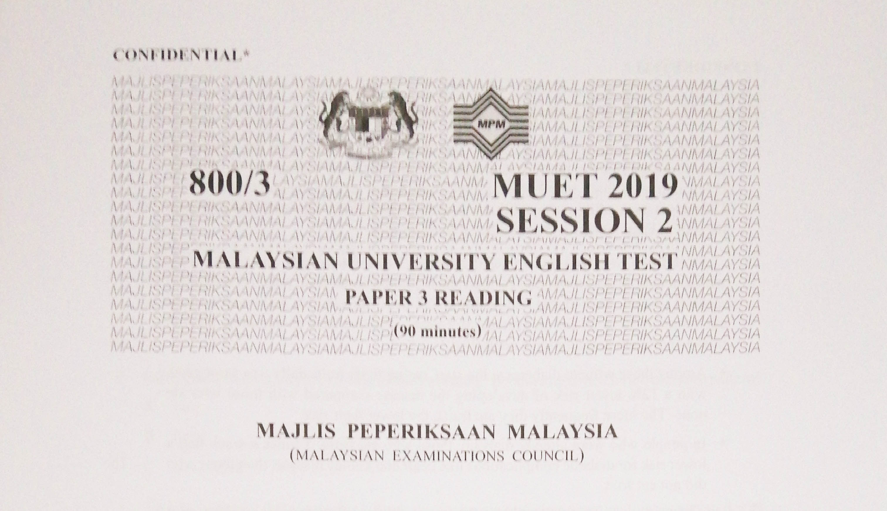 Muet Reading Question And Answer 2020