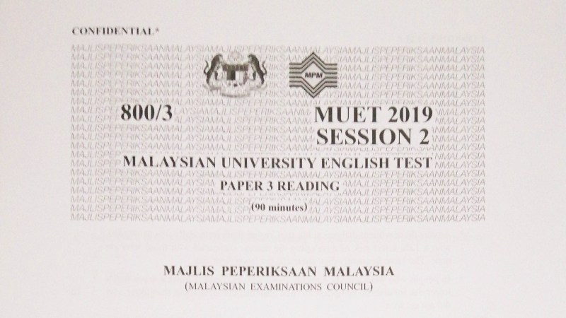 MUET Session 2 2019 – Past Year Papers