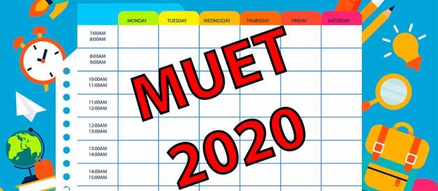 MUET 2020 Calendar