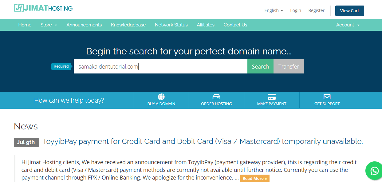 Build Website from Scratch - Domain name