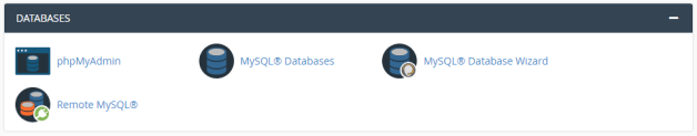 databases section