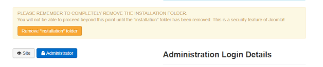 remove installation folder