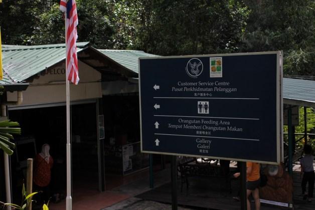 canteen at semenggoh wildlife centre