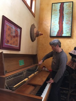 Robert tunes the spinet