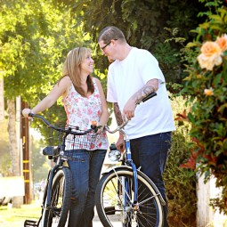 Matt and Amie's bike Engagement Pictures in Orange Circle_0325