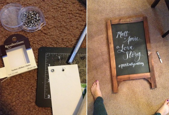 wedding DIY assembly