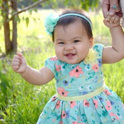 Outdoor Easter Dress Photos 9 Month Baby Photography_3094