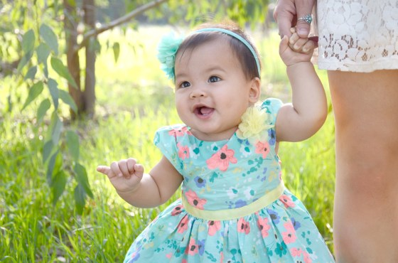 Outdoor Easter Dress Photos 9 Month Baby Photography_3097