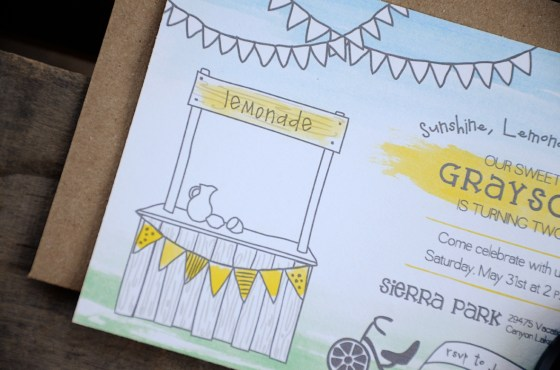 sunshine and lemonade your new friend sam birthday invitation