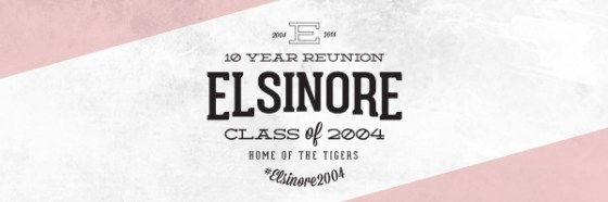 elsinore 10 year reunion badge logo blog header