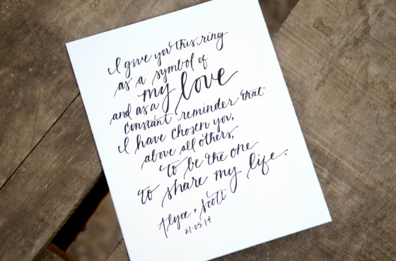 Your New Friend Sam Etsy Whimsical Handwritten Wedding Vows Alyce Scott 439
